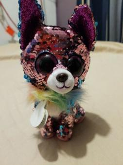 "Hot 6""ty Beanie Boos Glitter Eyes Plush Stuffed Animals Toys"
