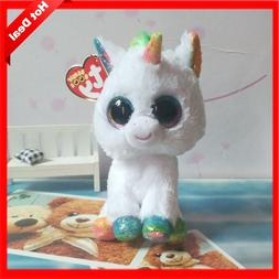 Hot Ty Beanie Boos Big Eyes Small Unicorn Plush Toy Doll Kaw