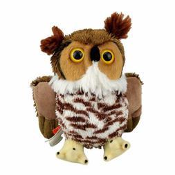 "Wild Republic Hug'ems Great Horned Owl Stuffed Animal Toy 6"""