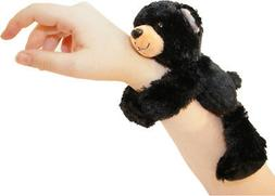 Wild Republic Huggers, Black Bear Plush Toy, Slap Bracelet,