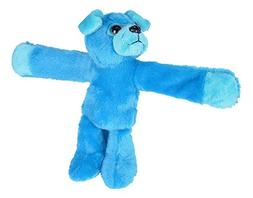 Wild Republic Huggers Blue Pug Plush Toy, Slap Bracelet, Stu
