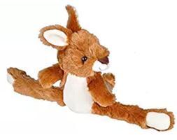 Wild Republic Huggers Kangaroo Plush Toy, Slap Bracelet, Stu