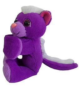 Wild Republic Huggers Purple Skunk Plush Toy, Slap Bracelet,
