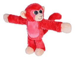 Wild Republic Huggers Red Monkey Plush, Slap Bracelet, Stuff