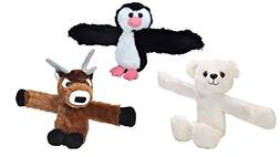 Wild Republic Huggers Seasonal Bundle, Plush Deer, Penguin,