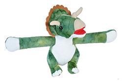 Wild Republic Huggers Triceratops Plush Toy, Slap Bracelet,