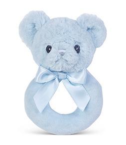 Bearington Baby Huggie Plush Stuffed Animal Blue Teddy Bear