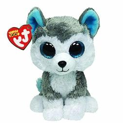 Husky 6 Ty Beanie Boos Whiskers Puppy Big Glitter Eyes Plush