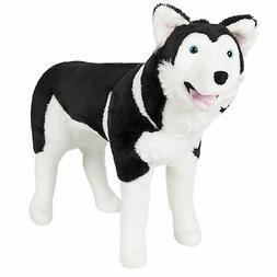Best Choice Products Husky Dog Plush Animal Realistic Soft S