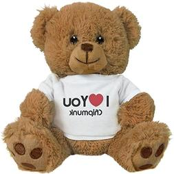 "FUNNYSHIRTS.ORG I Heart You Chipmunk Love: 8"" Teddy Bear Stu"