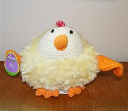 PIER ONE IMPORTS PLUSH YELLOW CHICKEN CHICK CROCHET FACE WIN