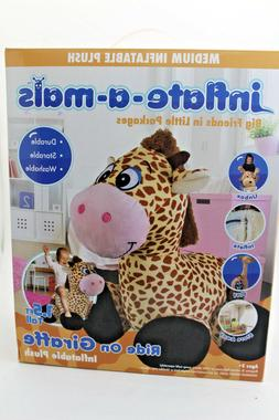 inflate-a-mals INF-RO-Gir Soft and Cuddly Inflatable Ride On