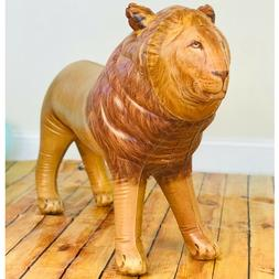 Inflatable Male Lion with Mane Stuffed Animal, Standing for