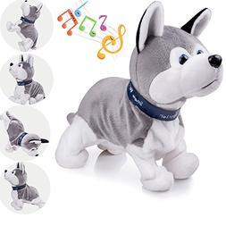 Marsjoy Interactive Puppy Plush Animated Walking Pet Electro