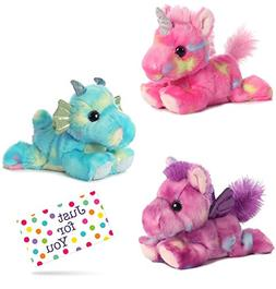 J4U Jellyroll Unicorn, Sprinkles Dragon, and Tutti Frutti Pe