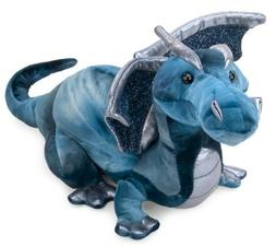 "Jade Blue Dragon 15"" Plush with Dragons Stickers Book by Dou"