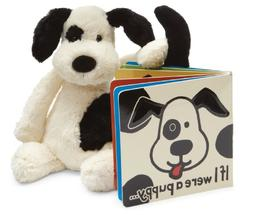 Jellycat If I Were a Puppy Board Book and Bashful Black and