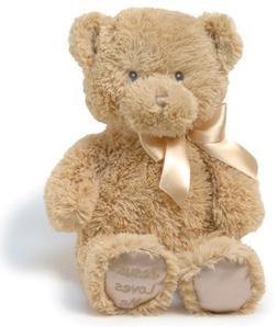 Jesus Loves Me Lullabye Teddy Bear, Tan