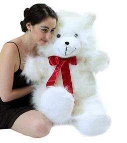 232db0894e1 Jumbo 3 Foot Teddy Bear 36 Inch Soft White Teddybear Made in