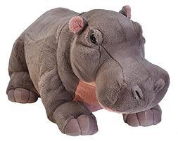 Wild Republic Jumbo Hippo Plush, Giant Stuffed Animal, 30 In