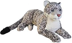 Wild Republic Jumbo Snow Leopard, Giant Stuffed Animal, Plus