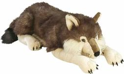 Jumbo Wolf Plush Giant Stuffed Animal Plush Toy Gifts for Ki