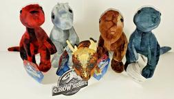 "Jurassic World Plush Stuffed Animals Assorted Mini 6""-8"" Toy"