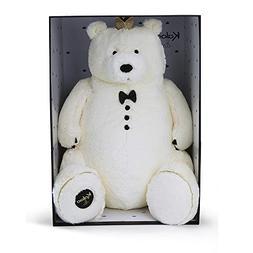 Kaloo K962338 Prince of Culddles Soft Toy Bear 60 cm, White