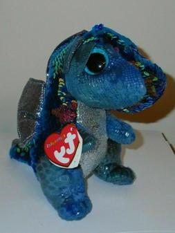"""Ty FLIPPABLES ~ KATE the Dragon 6"""" Beanie Boos NEW ~ IN HAND"""