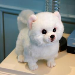 Kawaii White Pomeranian Plush Toy Soft Animals Dogs Doll Kid