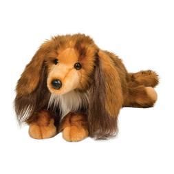 "Kenzie 16"" Long Hair Dachshund Douglas DLuxe stuffed animal"