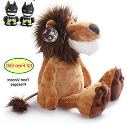 AL4B King of Jungle Giant Lion Cuddly Deluxe Big Cat Stuffed