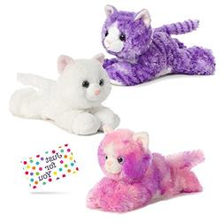 Kitty Cat Plush Set - One Each Purple Molly, Sugar Too, and