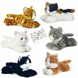 Kitty Cat Plush, Set of 6 Mini Flopsies - Molly, Sugar Too,