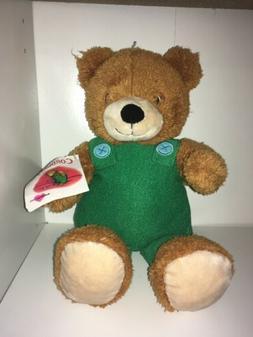 "Kohls Cares Corduroy Plush 14"" Bear Green Overalls New Stuff"