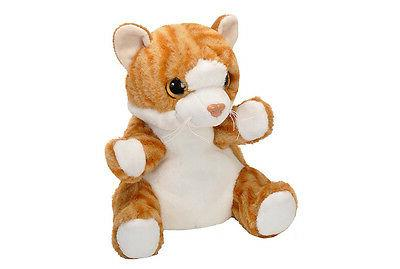 10 Inch Tabby Cat Plush Animal Hand by Republic
