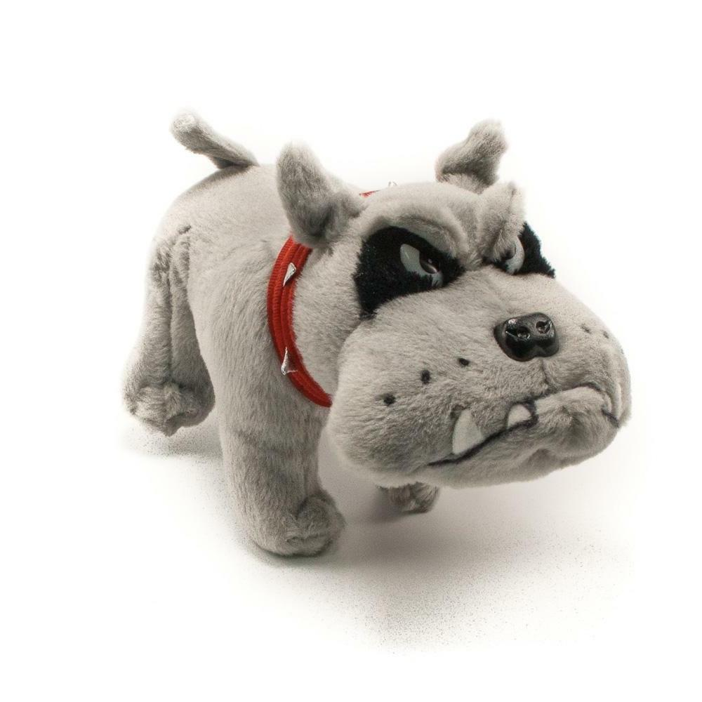 10 bulldog gray plush stuffed animal toy