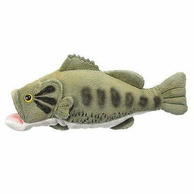 10 largemouth bass fish plush