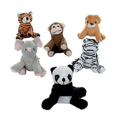 12 assorted stuffed animals zoo