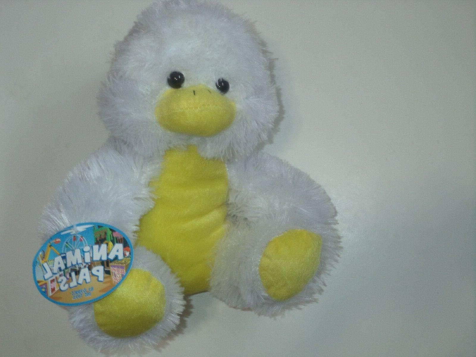Animal Pals 12 Inch Soft Stuffed Duck With Black Eyes