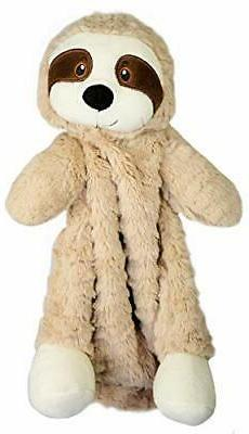 "The Petting Zoo 12"" Soft Brown Snugglerz Sloth Blanket - Gre"