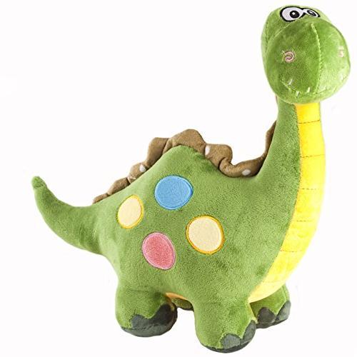 18 green stuffed dinosaur plush