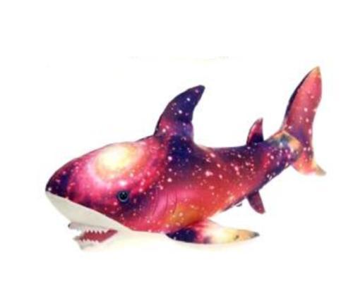 20 Inch Pink Galaxy Shark Plush Stuffed Animal by Fiesta