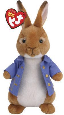 "TY Beanie Baby 8"" PETER RABBIT Plush Animal Stuffed Easter T"