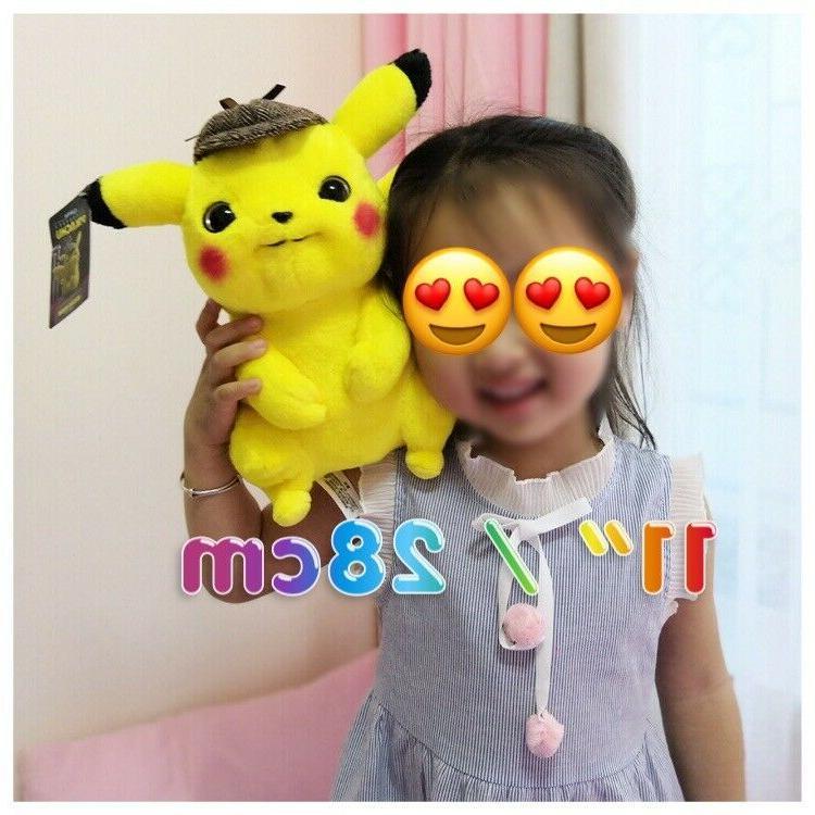 2019 Official Pokemon Detective Pikachu Authentic Plush Doll