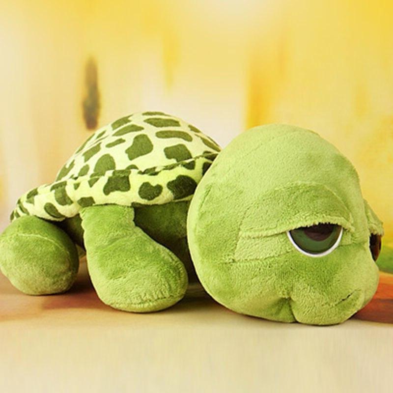 20cm Super Green Big <font><b>Eyes</b></font> <font><b>Stuffed</b></font> Tortoise Turtle Plush Baby WY