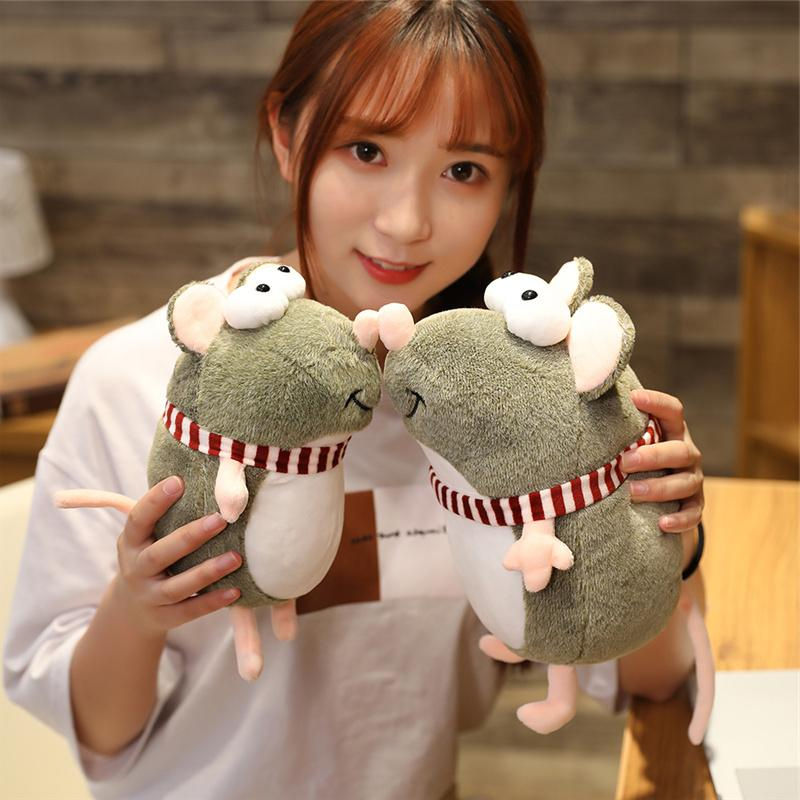21cm Kawaii Plush <font><b>Eyes</b></font> Mouse <font><b>Stuffed</b></font> <font><b>Animal</b></font> Children Birthday Home Decor Mascots