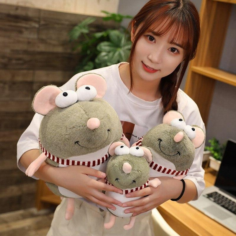 21cm Kawaii Plush <font><b>Eyes</b></font> Mouse Toy <font><b>Animal</b></font> Doll Children Gift Home