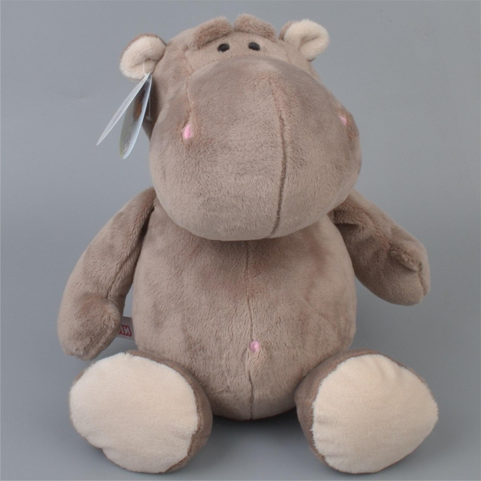 25 cm- 40 cm White Grey <font><b>zoo</b></font> Hippo <font><b>Stuffed</b></font> Plush Toy, Kids Gift
