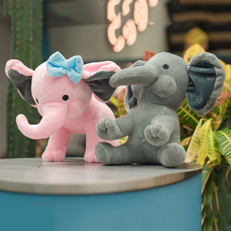 25cm Elephant Plush Toys Stuffed Doll <font><b>for</b></font> <font><b>Baby</b></font> Kids